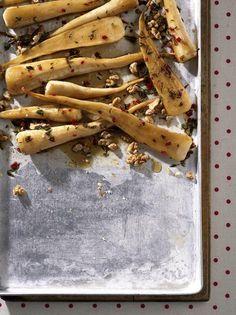 Butternuss-Petersilienwurzel-Gemüse - Rezepte: Petersilienwurzel - [ESSEN UND TRINKEN] Cheesesteak, Cinnamon Sticks, Clean Eating, Food Porn, Spices, Veggies, Meat, Healthy, Ethnic Recipes