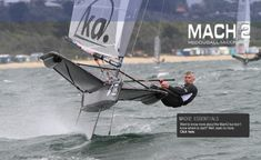 Who says you can't sail a foiling Mach2 Moth in waves?