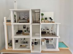 Dollhouse 1:12 scale, modern dollhouse ideas, Malibu Dollhouse Kit, follow @OneBrownBear on Instagram
