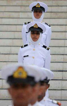 Pakistan Navy cadet at Mazar e Quid