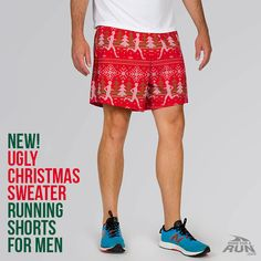 It is time to go for a run in our Ugly Christmas Sweater running shorts, these shorts are sure to be a favorite especially for all the Christmas races. Mens Ugly Christmas Sweater, Ugly Sweater, Christmas Themes, Christmas Holidays, Running Gifts, Christmas Runner, Gifts For Runners, Running Shorts, Get Healthy