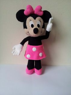 Hey, I found this really awesome Etsy listing at https://www.etsy.com/listing/193086244/minnie-mouse-crochet-doll-birthday-gift