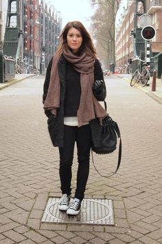 comfy...love the scarf!!