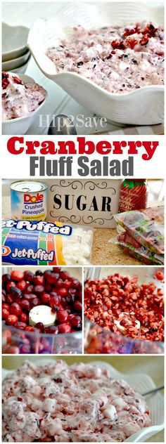 If you're looking for an easy and festive side dish, check out this creamy Cranberry Fluff Salad recipe! Perfect for any holiday gathering, it's is a great make-ahead dish as it does need to be refrigerated over night, so it save you time.