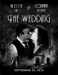 A perfect save the date idea for our Art Deco wedding