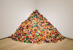 "Felix Gonzalez-Torres. ""Untitled"" (Portrait of Ross). Candies (ideal weight: 175 lb). The Physical. The Sensual. Sensory."