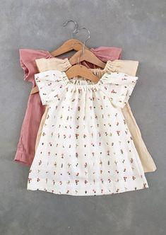 Handmade Organic Cotton Double Gauze Baby Dresses | SunnyAfternoon on Etsy