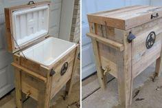 Möbel aus Europaletten  kühlschrank