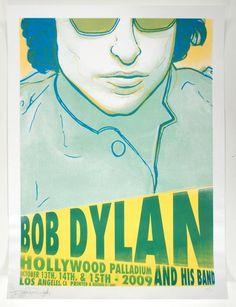 Bob Dylan concert poster - Hollywood Paladium - October 13,14,15, 2009