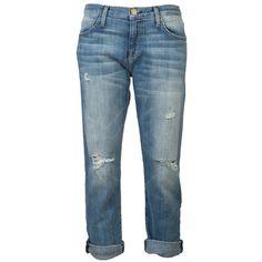 Current/Elliott Boyfriend Jean (210 AUD) ❤ liked on Polyvore featuring jeans, pants, bottoms, pantalones, current elliott jeans, boyfriend jeans, blue ripped jeans, destroyed boyfriend jeans and destroyed jeans