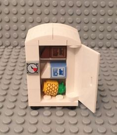 Lego New MOC Custom City home Interior Refrigerator / Fridge Freezer kitchen Appliance mini figures play With Foods like pineapple,milk,chocolate milk carton pattern,please check pictures and no baseplate included,for combine shipping charges please request a new total before payment,thank you. | eBay!