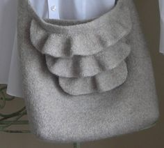 knitted/felted purse