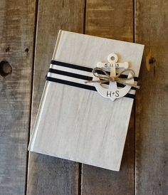 Nautical Wedding Guest Book Personalized by LoRustique on Etsy, $26.50