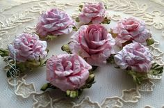 DIY  - amazing flowers with tutorial and pictorial - in Russian but easily translated if you have Google translator @ http://www.liveinternet.ru/users/4527914/rubric/2398268/