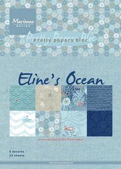 Oceans 8, Marianne Design, A5, Scrapbook Paper, Pretty, Instagram