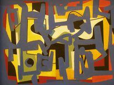 Ad Reinhardt, Abstraction, 1944.  Art Experience NYC  www.artexperiencenyc.com/social_login/?utm_source=pinterest_medium=pins_content=pinterest_pins_campaign=pinterest_initial