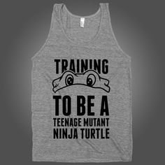 Training To Be A Teenage Mutant Ninja Turtle on a White Tank Top – Stride Fitness Apparel