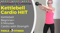 9 Minute KETTLEBELL Cardio HIIT  ... It's the Countdown to Christmas (The Festival of HIITs) - 24 days of quick HIIT workouts for busy people!  Grab your KETTLEBELL for some fast and sweaty CARDIO!  This great no repeat HIIT workout is short - under 10 minutes! - but definitely not easy.  Kettlebell experience is recommended.   Find more FREE workout videos at www.PahlaBFitness.com