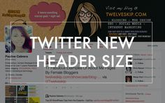 Twitter NEW Redesign: New Dimension for Header Photo. More Twitter inspiration at http://getonthemap.us/twitter/blog #573tips