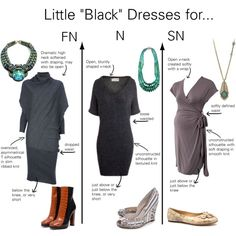 """Little ""Black"" Dresses for Natural Types"" by thewildpapillon on Polyvore"