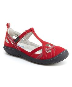 Loving this Red Charley Encore T-Strap Mary Jane on #zulily! #zulilyfinds