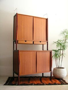 Bertil Fridhagen; Cupboard for Bodafors, c1960.    I adore the simplicity.