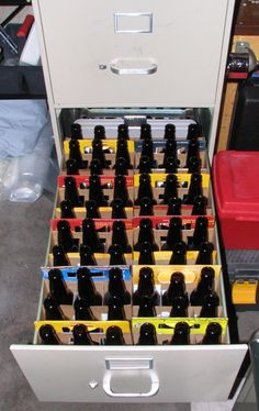 My newly discovered bottle storage unit... - Home Brew Forums