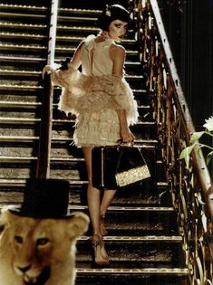 """The Terrier and Lobster: """"Che Charleston"""": Alek Alexeyeva, John S and Lino Meiries as Flappers by Esther Haase for Vanity Fair Italia"""