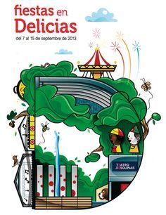 cartel fiestas delicias zaragoza 2013 - Buscar con Google