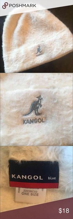 KANGOL Angora Soft Ivory Cream Beanie Hat Gorgeous SOFT cream ivory skull beanie ... One Size. Gray Kangaroo logo. By Kangol Blue. Stretch. From a smoke free home in very good condition!!  Beanie Winter Hat Cap Christmas Gift Cold Snow  Unisex Designer Skull Kangol Accessories Hats