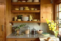 Kitchen Wood Cabinets with Granite Counter