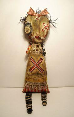 Handmade Art Doll Monster Truly by JunkerJane on Etsy   via Junker Jane