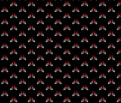 Bloody hearts in grim hands fabric by savagelystitched on Spoonflower - custom fabric