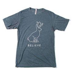 Believe In The Jackalope Men's T-shirt - Texas Humor Store - 1