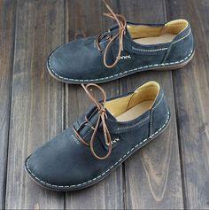Shoes Women Handmade Shoes for Women, Flat Shoes, Retro Leather Shoes, Casual Shoes, Vintage… - for women sites Sock Shoes, Cute Shoes, Women's Shoes, Shoe Boots, Dress Shoes, Flat Shoes, Shoes 2017, Louboutin Shoes, Platform Shoes