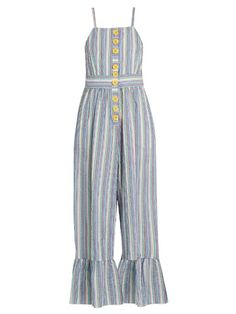 69a049b7 SEE BY CHLOÉ Striped seersucker jumpsuit. #seebychloé #cloth #jumpsuit