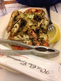DAT 2014 appetizer: garlic roasted 1/2 Dungeness Crab (normally $15.95)