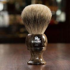Kent Horn Shaving Brush, Best Badger, Large