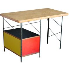 View this item and discover similar for sale at - Designed by Charles and Ray Eames for Herman Miller, USA, Made of birch plywood, black painted steel, masonite. Vintage Desks, Charles & Ray Eames, Modern Desk, Writing Desk, Mid Century Design, Table Furniture, Crates, Tables, Antique