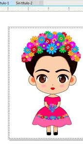 Frida Kahlo Little Girl Caricature Frida Kahlo Cartoon, Whatsapp Png, Mexico Party, Kahlo Paintings, Indian Folk Art, Party In A Box, Silhouette Cameo Projects, Mexican Art, Clipart