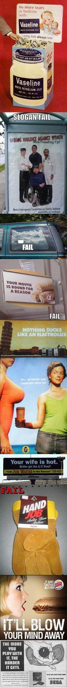 Advertising Fails