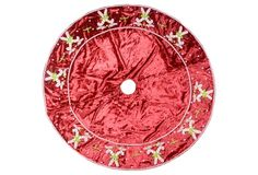 "15"" Candy Cane Tree Skirt, Red $339"