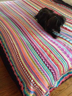 Finally finished!  Happy dance!  Ravelry: meowmmy65's Mixed Stripey Blanket