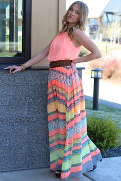 NanaMacs Boutique - Summer Radiance Coral Maxi Dress, $36.00 (http://www.nanamacs.com/summer-radiance-coral-maxi-dress/)