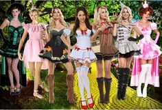 Sexy Wizard of Oz Group Costume Ideas #Halloween