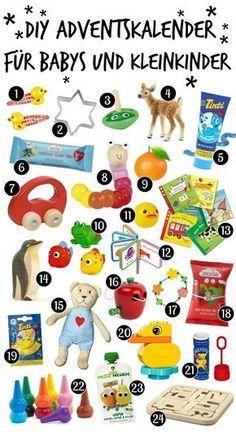 Adventskalender für Babys und Kleinkinder: Ideen zum Selberfüllen