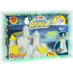 CRAZE Magic Sand homokgyurma - Sötétben világító várépítő szett 700 g Magic Sand, Frost, The Darkest, Glow, Castle, Play Dough, Clearance Toys, Reading