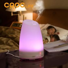 CRDC LIFE Ultrasonic Air Aroma Humidifier With Changing 7 Color LED Lights Electric Aromatherapy Essential Oil Aroma Diffuser