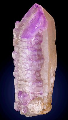Very rare and exceptional large cabinet sized crystal of Milky Quartz covered by Amethyst Quartz crystals!