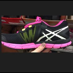 Asics Gels Asics Gels- black with pink sole asics Shoes Sneakers
